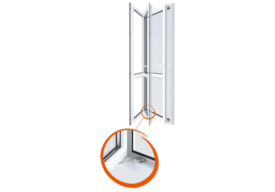 Montaža Windy magnetne zavore na vrtljivo okno