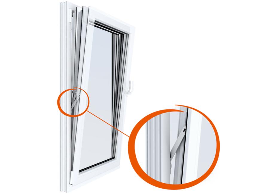 Montaža Windy magnetne zavore na nagibno okno